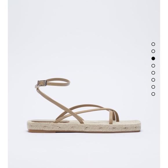 Zara chunky stealth jute sandals